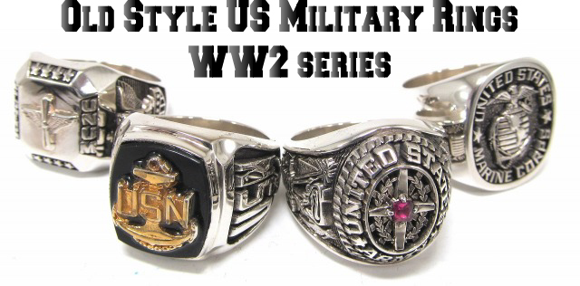 Old Style US Military rings WW2 series